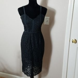 Women's Express Black Lace Dress Size 6
